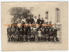 Photo De Classe- Menton (06) La Condamine 1928-29- 4me Classe élèves Filles Et Institutrice - Persone Anonimi