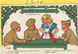 Militaria : Humoristique: Chez Madelon   ( Signe M.r.b.) - Humour