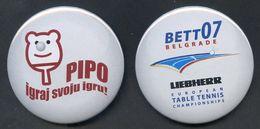 TENNIS DE TABLE - Lot De 2 Badges - Tischtennis - Table Tennis