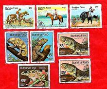 2945 - BURKINA  FASO - 1985 - Lot De Timbres  Oblitérés - Burkina Faso (1984-...)