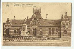 Vilvoorde - Vilvorde  *  La Gare Et Statue Portaels  (Flion) - Vilvoorde