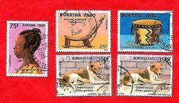 2946 - BURKINA  FASO - 1986+88+89  Lot De Timbres  Oblitérés - Burkina Faso (1984-...)