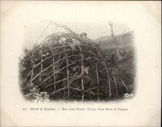 Campagne DUGUAY-TROUIN 1902-1903 - Expédition - Patagonie - Détroit De Magellan - Hutte De Frugiens - CHILI - - Chili