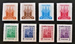 ERADICATION DU PALUDISME 1962 - NEUFS ** - YT 358/61 - MI 385/92 - Thaïlande
