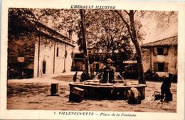 34 - VILLENEUVETTE -- Place De La Fontaine - France