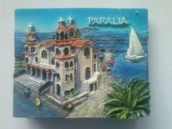 MAGNET - Souvenir  From  Greece (Paralia)    (6,5 X5x1 Cm-60 G) - Tourism