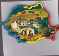 MAGNET - ROMANIA-Transilvania- Dracula Castle (9 X6x0.5 Cm) -16 Gr - Tourism