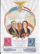LUXEMBOURG - 1945 - CARTE COMMEMORATIVE AMERICAINE SOUVENIR De ROOSEVELT - LIBERATION - Luxemburg