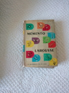 MEMENTO LAROUSSE - Dictionaries