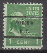 USA Precancel Vorausentwertungen Preo, Bureau New York, Fredonia 804-71 - United States