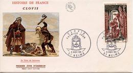 FRANCE  - 1966 History Of France - CLOVIS   FDC2116 - FDC