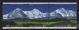 Switzerland/Suisse/Helvetia 2006 Mountain Panoramas.Geology/Mountains.Strip Of 3 Stamps. MNH - Ongebruikt