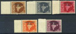India 1957 Mi. 6-10 Nuovo ** 100% Edizione Per Laos - Military Service Stamp