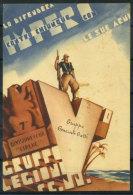Divisione CC.NN Cirene 1936 Cartolina 100% Usata Con 1 Francobollo, Gruppo Generale Gatti - Militaria