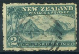 Nuova Zelanda 1902 Mi. 111 Usato 100% 2 Sh, Milford Sound - Used Stamps