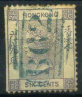 Hong Kong 1863 Mi. 10 Usato 40% 6 C, Regina Vittoria - Hong Kong (...-1997)