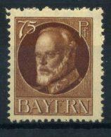 Baviera 1919 Mi. 135 A I Nuovo * 100% 75 Pf, Re Ludovico III - Bavaria