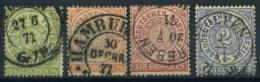 Norddeutscher Bund 1869 Mi. 14-17 Usato 100% Stemma - North German Conf.