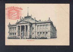 Dt. Reich Frankreich France Werbe-PK Pastettenfabrik Michel Strassburg - Werbepostkarten