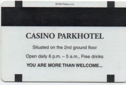 Carte Clé Hôtel & Casino : Parkhotel Praha Prague - Cartes De Casino