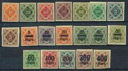 Wurttemberg 1921-1922 Mi. 150... 170 Nuovo * 100% Servizi - Wurttemberg