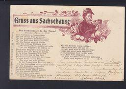 Dt. Reich  PK Gruss Aus Sachsehause 1908 - Frankfurt A. Main
