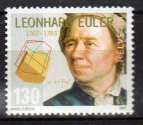 Switzerland/Suisse/Helvetia 2007 The 300th Anniversary Of The Birth Of Leonhard Euler.sciences.  MNH - Switzerland