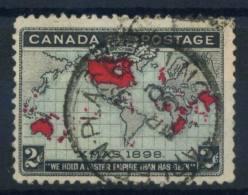 Canada 1898 Mi. 74 Usato 100% Mappa 2 C. - Used Stamps