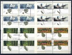 Canada 1990 Mi. 1191-1194 Minifoglio 100% Usato Foreste - Blocks & Sheetlets