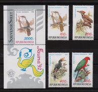 Indonesia 1992, Birds, Complete Set + S/s, MNH. Cv 13,80 Euro - Indonesia