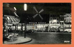 A706 / 309 75 - PARIS Le Moulin Rouge La Nuit - Non Classés