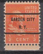 USA Precancel Vorausentwertungen Preo, Bureau New York, Garden City 803-71 - United States