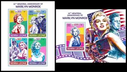 SIERRA LEONE 2017 - Marilyn Monroe. M/S + S/S Official Issue. - Film