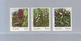 FINLANDE- ALAND  - Flore. Orchidées YT N° 33/35  - 1989 - Neuf ** - Orchideen