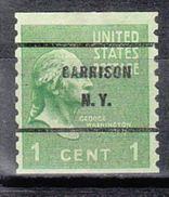 USA Precancel Vorausentwertungen Preo, Bureau New York, Garrison 839-61 - United States