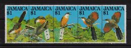 Jamaica 1982, Birds, Complete Set In Strip, MNH. Cv 16 Euro - Giamaica (1962-...)