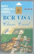 RO.- Telefoonkaart. ROM TELECOM. Cartela Telefonica. 20000 Lei. BANCA COMERCIALA ROMANA. BCR VISA Clasic Card. Roemenië. - Romania