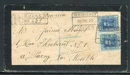 Espagne - Enveloppe En Recommandé De Soler Pour La France En 1929 - Ref D266 - 1889-1931 Royaume: Alphonse XIII