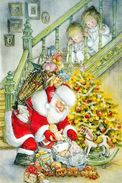 #47/23 Lisi Martin Children Merry Christmas  Happy New Year Russian Modern Rare New Postcard - New Year