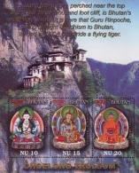 Bhutan 2001 Sheetlet Buddha Buddhist Art Taksang Monast Choelong -Trulsum MNH - Buddhism