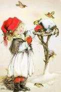 #47/24 Lisi Martin Children Merry Christmas  Happy New Year Russian Modern Rare New Postcard - New Year