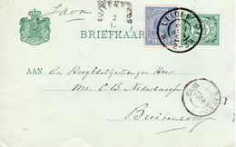 6 NOV 1899 Bk G51 Met Bijfrankering NVPH35 Van Leiden Naar Buitenzorg - Ganzsachen