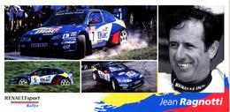 Carte Postale Jean RAGNOTTI Renault Sport Rallye - Sportsmen