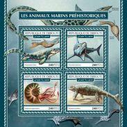 DJIBOUTI 2017 - Water Prehistorics, Ammonite. Official Issue. - Conchiglie