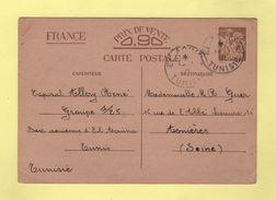 Tunisie - El Aouina - Base Aerienne - 1-1-1941 - Entier Interzone Iris - Storia Postale