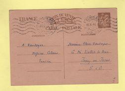 Tunisie - Tunis RP - 10-2-1941 - Entier Interzone Iris - Tunesien (1888-1955)
