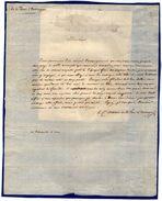 VP11.800 - Noblesse - LAS - Lettre De Mr Le Comte Melchior De LA TOUR D'AUVERGNE - Autographs