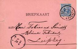 11 MRT 98 Correspondentiekaart Van Amsterdam Naar Leipzig - Periode 1891-1948 (Wilhelmina)