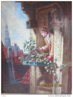 Onbekende Meester, Olieverf Op Paneel, 40 X 29 Cm. - Oils