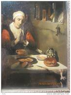 Karel Ooms (toegeschreven Aan) Biddende Persoon In Interieur. Olieverf Op Paneel 17 X 23 Cm. - Huiles